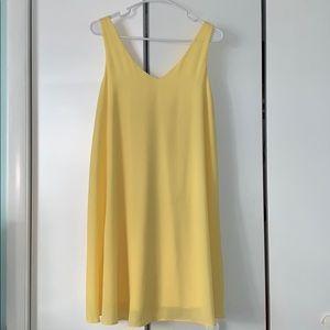 Yellow Pinkblush Tie-Back Dress